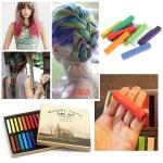 пастели за коса, цветни кичури / 2 / - 12 цвята в комплект