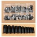 комплект черни удължители за нокти с прагче 500 броя