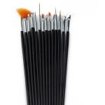 15 професионални четки за маникюр и арт дизайн