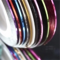 комплект 10 цветни ленти за декорация и арт маникюр