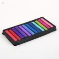 пастели за коса, цветни кичури - 12 цвята в комплект