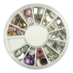 36 камъчета за декорация 5 мм диамант микс