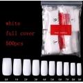Комплект Удължители Бели за Нокти Full Cover 500 Броя