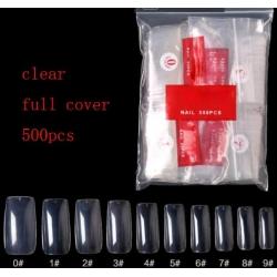 Комплект Удължители Прозрачни за Нокти Full Cover 500 Броя