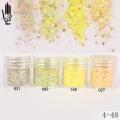 брокат блестящ за декорация на нокти маникюр смесен с люспи хексагон 10ml ,4-48 -- 021,027,093,189