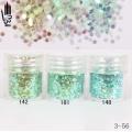 брокат блестящ за декорация на нокти маникюр люспи хексагон 10ml ,3-56 -- 142,148,181