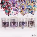 брокат блестящ за декорация на нокти маникюр смесен с люспи хексагон 10ml ,4-74 -- 046,049,052,073