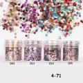 брокат блестящ за декорация на нокти маникюр люспи хексагон 10ml ,4-71 -- 010,013,043,100