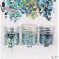 брокат блестящ за декорация на нокти маникюр люспи хексагон 10ml ,3-77 -- 019,040,076