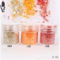 брокат блестящ за декорация на нокти маникюр смесен с люспи хексагон 10ml ,3-51 -- 084,135,168