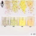 брокат блестящ за декорация на нокти маникюр смесен с люспи хексагон 10ml ,4-48