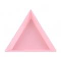 кутийка за кристали, триъгълна розова