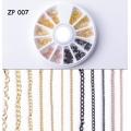 палитра 12 златни ланци за декорация фини ZP007