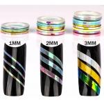 комплект 9 цветни ленти от 1 мм русалка ефект