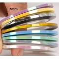 комплект 9 цветни ленти от 2 мм русалка ефект