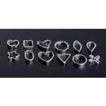 сребърни пръстени 12 форми ZP005