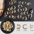 3D златни метални форми коледни звезди