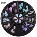 опал-кристални камъчета за декорация - капка zp069