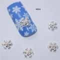 3D декорация за нокът снежинка сребърна H016