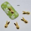 3D декорация за нокът златен заек H393