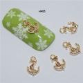 3D декорация за нокът котва златна H405