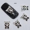 3D декорация за нокът панда сребърна H422