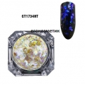 Irregular Transparent Gradient Chameleon Ultra thin Glitter CT1734HT