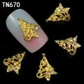 3D декорация за нокът златна елха TN670