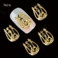 3D декорация за нокът златна корона TN218