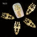 3D декорация за нокът златна корона TN220