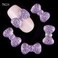 3D декорация за нокът панделка лилава TN224