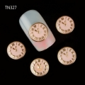 3D декорация за нокът розов часовник TN327