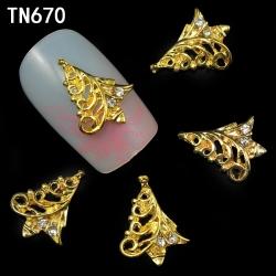3D декорация за нокът златена елха TN670