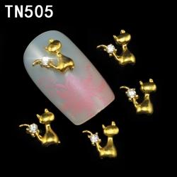 3D декорация за нокът златна котка TN505