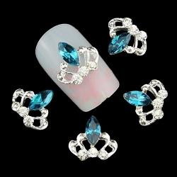 3D декорация за нокът сребърна корона 1RB8