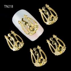 3D декорация за нокът златна корона ТН218