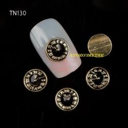 3D декорация за нокът черен часовник TN130