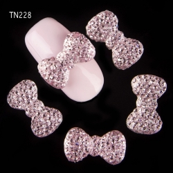 3D декорация за нокът панделка розова TN228