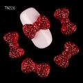 3D декорация за нокът панделка червена TN226