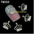 3D декорация за нокът сребърна корона TN550