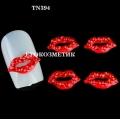 3D декорация за нокът червени секси устни TN394