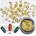 3D златни метални форми коледни