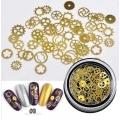 3D златни метални форми машинни части