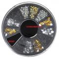 микс камъчета за декорация в златисто,сребърно и черно ZP207