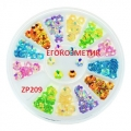микс декорация цветчета за маникюр ZP209