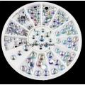 кристални камъчета микс за декорация 5mm,4mm,3mm,2mm,1mm ZP042