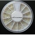 бели перли за декорация  -2, 3,4,5 мм 4N35 ZP054