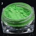 пигмент флуорисцентен ефект - зелена серия - 03