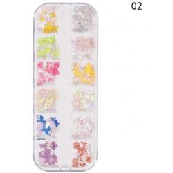 240 бр Имитации на Пеперуди за Декорация на Маникюр Модел2
