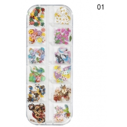 240 бр Имитации на Цветя за Декорация на Маникюр Модел1
